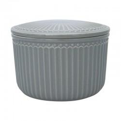 Storage Jar Alice stone grey small