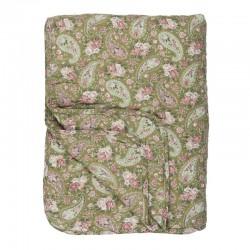 Ágytakaró Paisley mintás, zöld-pink 130×180 cm