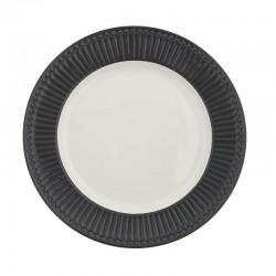 Dinner plate Alice dark grey