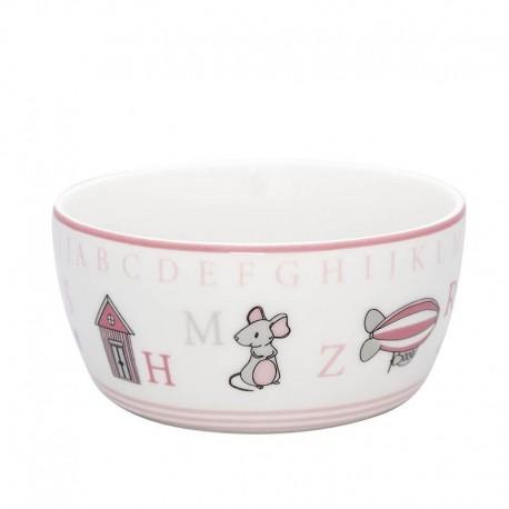 Kids bowl Charlie pink