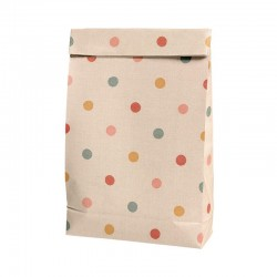 Gift bag, Multi dots large 10pcs