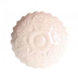 Porcelain knob leaf white