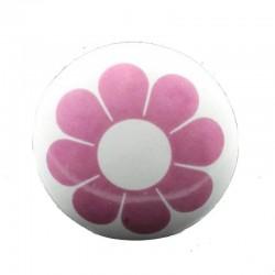 Porcelain knob flower pink