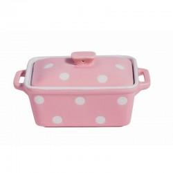 Isabelle Rose Sütőtál/Vajtartó edény Spot pale pink