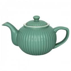 GreenGate Teapot  Alice dusty green