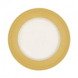 Dinner plate Alice honey mustard