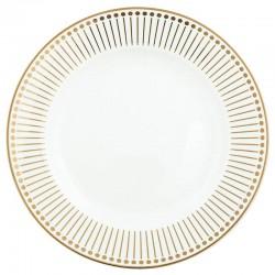 Dinner plate Dawn gold NBC
