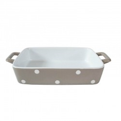 Beige Small dish wits dots