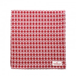 Tablecloth Heart Petit Red 150×150cm