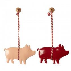 Metal Ornament, Pig 2ass