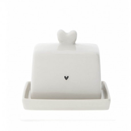 Butter Fleet Heart black 4,7x7x5cm