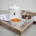 Teapot White Time for Tea BL