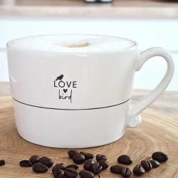 Cup White/Love Bird 10x8x7cm