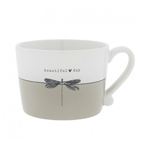 Cup White/Beautiful Day 10x8x7cm