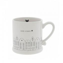Mug White/Canal Houses in Black 8x7cm