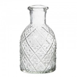 Pharmacy glass f/dinner candle harlequin pattern
