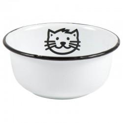 Bowl for Cat Enamel White