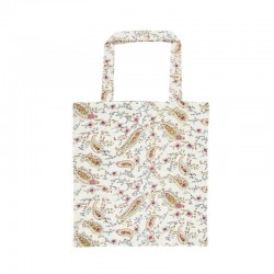 Shopping bag w/small flowers and paisley