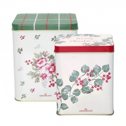 Square box Charline white set of 2pcs