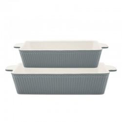 Dishes Alice stone greyrectangular set of 2