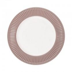 Dinner plate Alice hazelnut brown