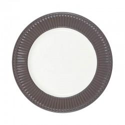 Dinner plate Alice dark chokolade