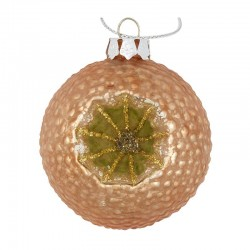 Christmas ball Carved glitter gold