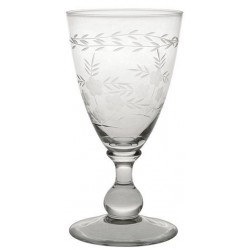 Wein Glass with Cutting clear small