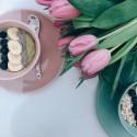 Kerámia Esther pale pink tál