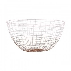Basket Deep Copper with pink