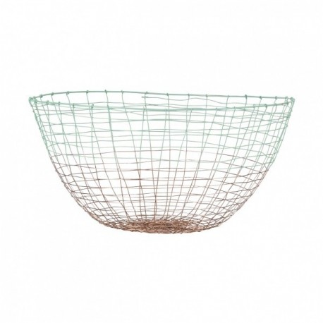 Basket Deep Copper with Mint Green