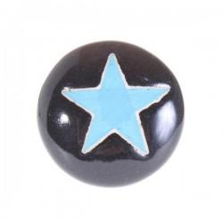Bútorfogantyú Porcelán Kék Csillag