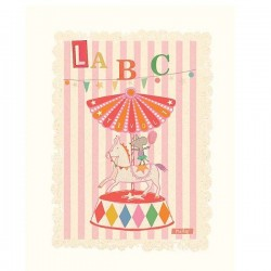 Poster ABC pink