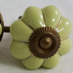 Bútorfogantyú Porcelán Sarah zöld