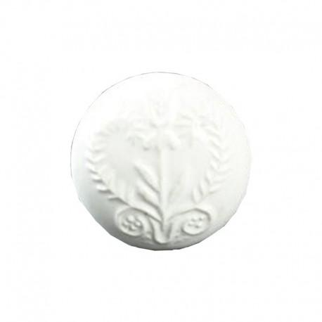 Bútorfogantyú Porcelán Fehér mintás