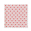 Oilcloth Haven red 0,5 m×1,42 m