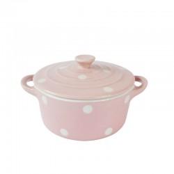 Isabelle Rose Sütőedény kerek, fedéllel Spot pale pink