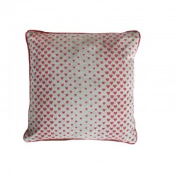 Cushion with filler polka...