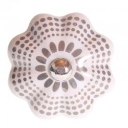 Bútorfogantyú Porcelán Pöttyös