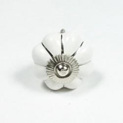 Porcelain Knob  Sarah silver