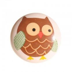 Porcelain knob Owl