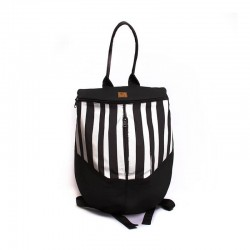 Beetle backpack Stripe black