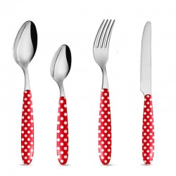 Cutlery Spot red 4 parts
