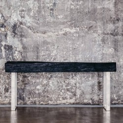 Shou Sugi Ban Bench with...