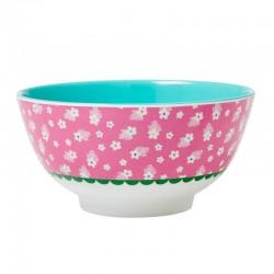 Melamine Bowl Pink Flower