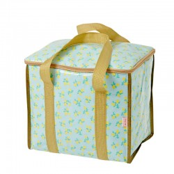 Cooler bag lemon print blue...