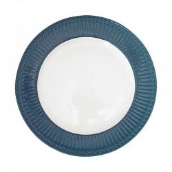 Dinner Plate Alice Ocean blue