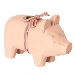 Wooden Pig Pink, small