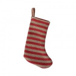 Christmas Stocking, red/sand