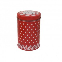 Sugar Shaker red with dots